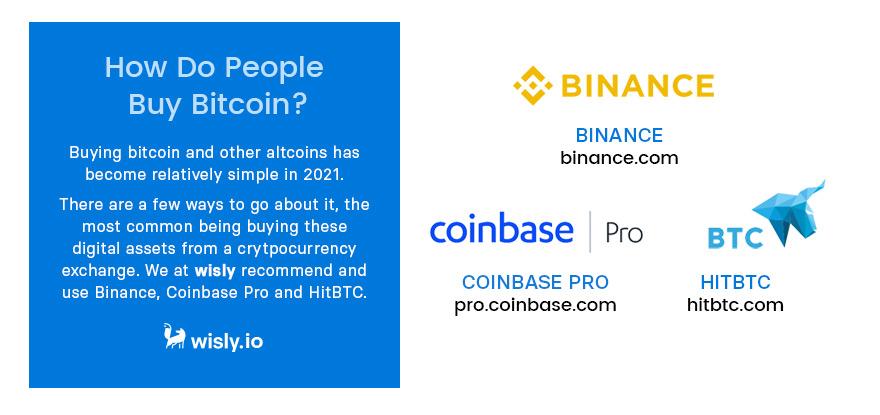 How do people buy Bitcoin - Binance Coinbase Pro - Crypto Wallet